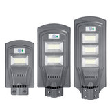 Solar Powered 117/234/351 LED Wall Street Light PIR Motion Lamp Garden Road