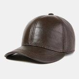 Męska skórzana czapka z prawdziwej skóry bydlęcej Outdoor Casual Top Layer Baseball Cap