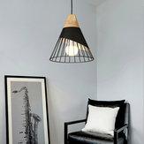 E26 / E27 Nordic moderno LED lustre de teto luz de metal Pingente lâmpada café bar