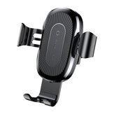 Baseus Qi iPhone 8 X Samsung S8 S7 S6用のワイヤレス高速カーチャージャー電話ホルダーマウント
