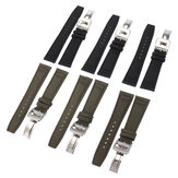 20mm 21mm 22mm Nylon Calf Leather Wristband Watch Band Smart Watch Strap Replacement