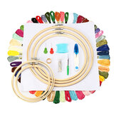 Artesanato Kit de ponto cruz Bordado Starter Sew Needle Round Hoop Frame Sewing Tools