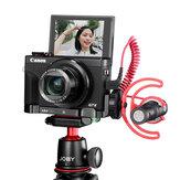 UURig R016 Quick Release L-plaat Cold Shoe Mount Extension Stabilizer voor Canon G7X Mark III Camera