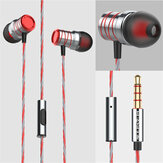 Bakeey P20 Metal Super Bass Music Earphone Gaming In-ear-hovedtelefoner med mikrofon