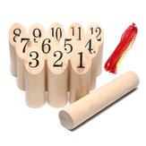 Number KUBB Wooden Family Outdoor Garden Lawn Game Set Board Game Toy