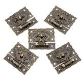 5 Setleri Bronz Ahşap Kilit Kutu Bavul Geçiş Mandalı Tokalar Ton 5.1 cm x 2.9 cm