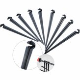 50Pcs Irrigation Drip Support Stakes 1/4 Inch Tubing Hose Holder for Vegetable Gardens or Flower Beds Water Flow Drip Irrigation System