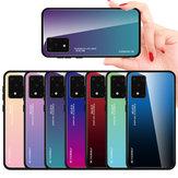 Para Samsung Galaxy S20 + / Galaxy S20 Plus Bakeey Cor Gradiente Vidro Temperado À Prova de Choque À Prova de Choque Proteção Resistente Caso