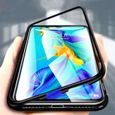 مغناطيسي الامتزاز المعدنية الوفير الزجاج المقسى فليب حالة وقائية ل Huawei P30/P30 Pro / P20 / P20 Pro / Huawei Mate 20/Mate 20 Pro
