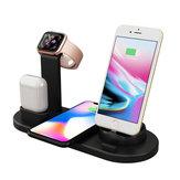 Chargeur sans fil Bakeey 10W 3 en 1 à charge rapide pour iPhone 8Plus XS 11Pro Huawei P30 Pro Mate30 Mi9 9Pro