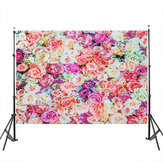 3x5FT 5x7FT Vinyl Flower Rose Wall Photography Backdrop Background Studio Prop