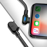 Bakeey 2.4A Type C Micro USB 90 Degree Fast Charging Double Elbow Data Cable with Indicator Light For Huawei P30 Pro Mate 30 Xiaomi Mi9 9Pro Oneplus 6T 7 Pro