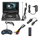 7.8 inch Portable DVD Multimedia Player U Drive Play FM TV Game Card Read Function MP4 MP5 VCD DVCD with Gamepad