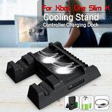 Universal Dual Handle USB Charger + Fan Cooling Base + Disc Bracket for X BOXONE/ SLIM/ X