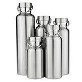 स्टेनलेस स्टील थर्मस डबल वाल वैक्यूम अछूता पानी की बोतल स्टेनलेस कैप