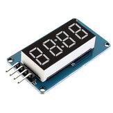 TM16374ビットデジタルLEDディスプレイモジュール7セグメント0.36インチレッドアノードチューブ4シリアルドライバーボードArduino用Geekcreit-公式Arduinoボードで動作する製品