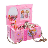 Girls Pink Ballerina Kids Musical Box Jewelry