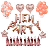 Bride To Be Latex Bachelorette Party Balloon Combination For Hen Party Decoration Rose Gold Balloons