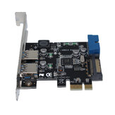 SSU V14S Carte d'extension E / USB 3.0 PCI avec interface frontale 19/20 broches pour ordinateur de bureau