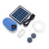 AP008 Solar Bomba de oxígeno de potencia Solar Kit de bomba de aire alimentado 1.5W Solar Panel para acuicultura de estanques de peces