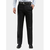 Black Slim Straight Suit Pants Men's Dress Trousers