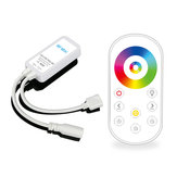 DC5-24V Mini Wireless RF RGB+CCT LED Dimmer Controller Touch Remote Control for Strip Light