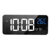 LD8808 Ladespiegel LED Musikwecker Dual-Alarm-Modus Temperaturanzeige Desktop-Uhr