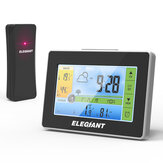 ELEGIAN Wireless Indoatau Luar LCD Weather Station Jam Thermometer Hygrometer Monitatau dengan Sensatau