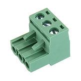 20 pcs 2 EDG 5.08mm Passo 3Pin Plug-in Parafuso PCB Bloco de Terminais Conector Ângulo Direito
