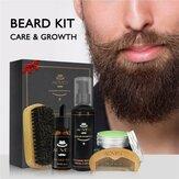 Men's Style Beard Comb Brush Oil Beard Water Wash Suit