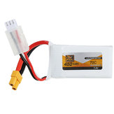 ZOP Power 7.4V 450mAh 70C 2S Lipo Battery XT30 Plug for BetaFPV Beta85X