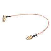 15 CM SMA cabo SMA Macho Ângulo Direito para SMA Fêmea RF Coaxial Pigtail Cable Fio RG316 Conector Adaptador