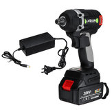 388VF 19800mAh Brushless Cordless Electric Impact Wrench Two Battery One Charger