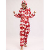 Christmas Costume Flannel Loungewear Jumpsuits