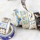 15mmx5m Washi Tape Roll Hot Stamping Craft Stickers Decoraciones Scrapbooking