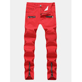 Mens Zipper Jeans