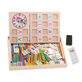 Kids Math Counting Educational Toys Learning Number Sticks Blackboard Wooden