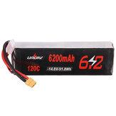 URUAV 14.8V 6200mAh 120C 4S Lipo Batterie XT60 Plug pour RC Drone