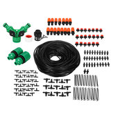 159Pcs 50 Meters DIY Plant Self Watering Micro Drip Irrigation System Garden Hose Set