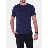 Mens Casual Fashion Bodycon Fit Pure Color T-Shirts