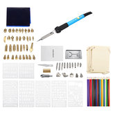 94Pcs 60W Electric Solder Iron Kit Wood Burning Pen Pyrography Craft Tool