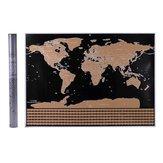 世界地図インタラクティブ休暇ポスタースクラッチオフホームオフィスの装飾のための世界旅行マップ