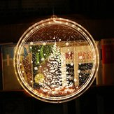 Battery Powered 3D Christmas Tree LED String Light Hanging Night Lamp for Indoor Garland Home Decoration