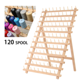 120 Spool Wood Thread Cone Holder Rack Organizer Sewing Kit For Sewing Quilting Embroidery