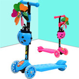 Children's Folding Scooter Adjustable Handlebar 4 LED Wheel Self Balancing Scooters