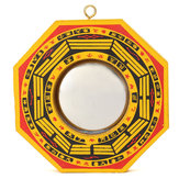 KiWarm Chinese Feng Shui Vintage Lucky FengShui Dent Convex Bagua Chinese FengShui Mirror Taoist Energy Home Decorations