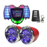 3 Inch bluetooth Motorcycle Stereo Audio Speakers Waterproof USB MP3 FM Player Clock Display