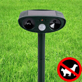KCASA Outdoor Garden Solar Ultrasone Repeller PIR Pest Animal Mouse Fox Cat Dog Repellent
