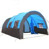 8-10人ビッグテント防水大部屋ファミリーテント屋外キャンプガーデンパーティーサンシェードオーニング