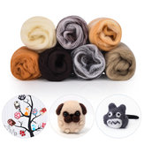 7 Colors Roving Wool Fiber DIY Needle Felt Handcraft Fluffy Soft Woolen Fiber Sewing Crafts Kit